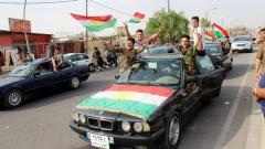 Кюрди празнуват участието си в референдума за независимост