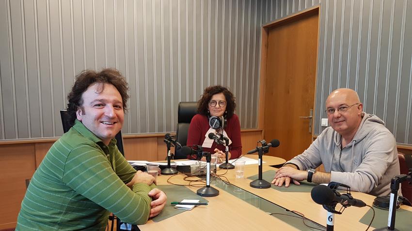 Илия Вълков, Михайлина Павлова и доц.д-р Орлин Спасов (отляво надясно).