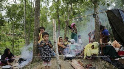 Рохинги, избягали в Бангладеш