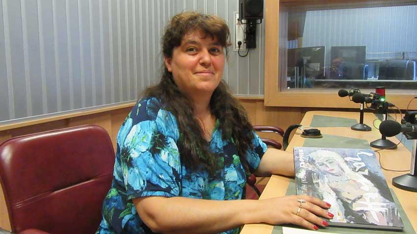 Павлина Иванова в студиото на предаването.