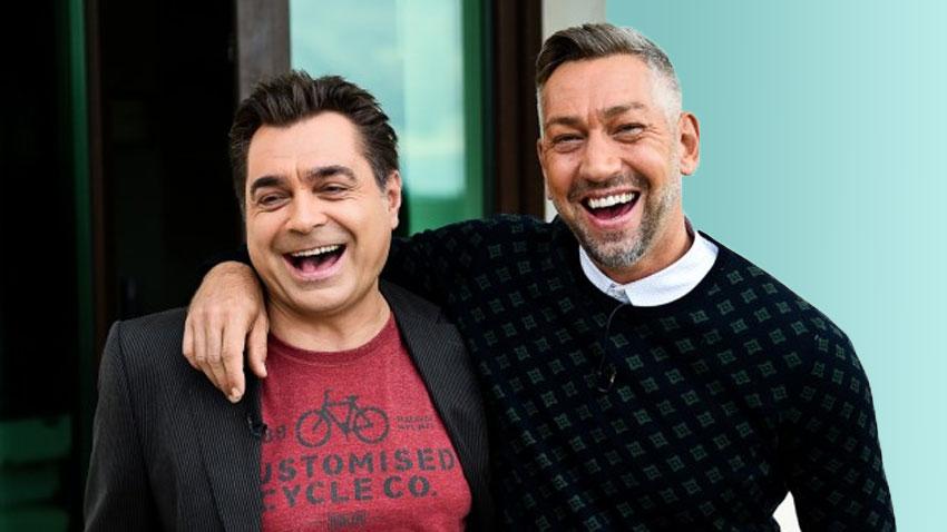Боби Иванчев и Заки Соколов се радват, че най-сетне имат песен с Любо Киров