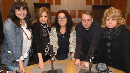 Лили Големинова, Диляна Трачева, Мая Райкова, Здравко Петров и Жени Монева (отляво надясно)