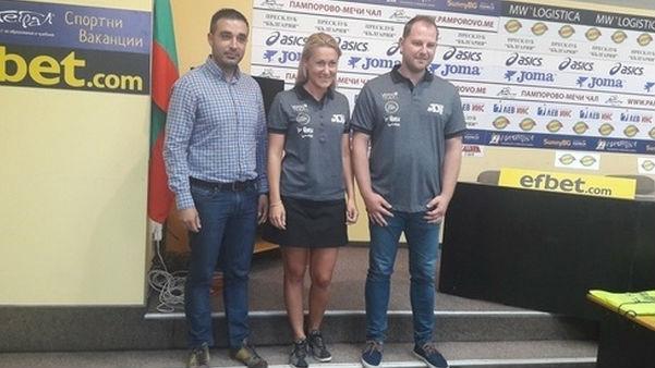Екатерина Стратиева с Петър Гьошев (вляво) и Георги Аврамов