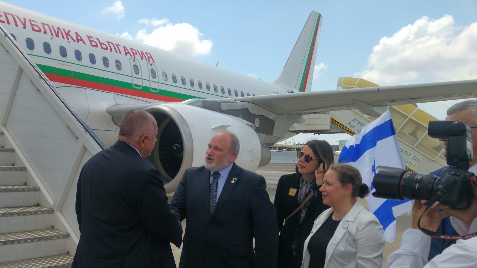 Министър-председателят Бойко Борисов пристигна в гр. Тел Авив