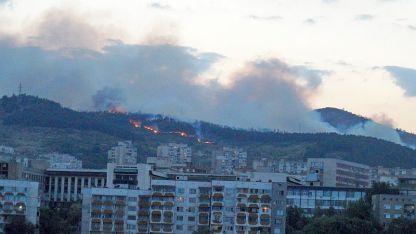 Пожар край Стара Загора, снимка © Радио Стара Загора