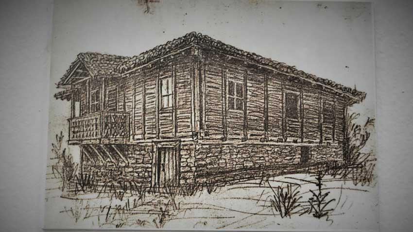 Пехливановата къща, в която колонистите се установяват в Алан Кайряк, 1906 г.