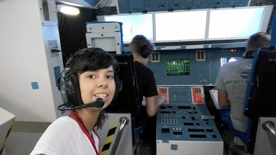 Симона Лилова в Космическия център на НАСА в Измир, Снимка: личен архив