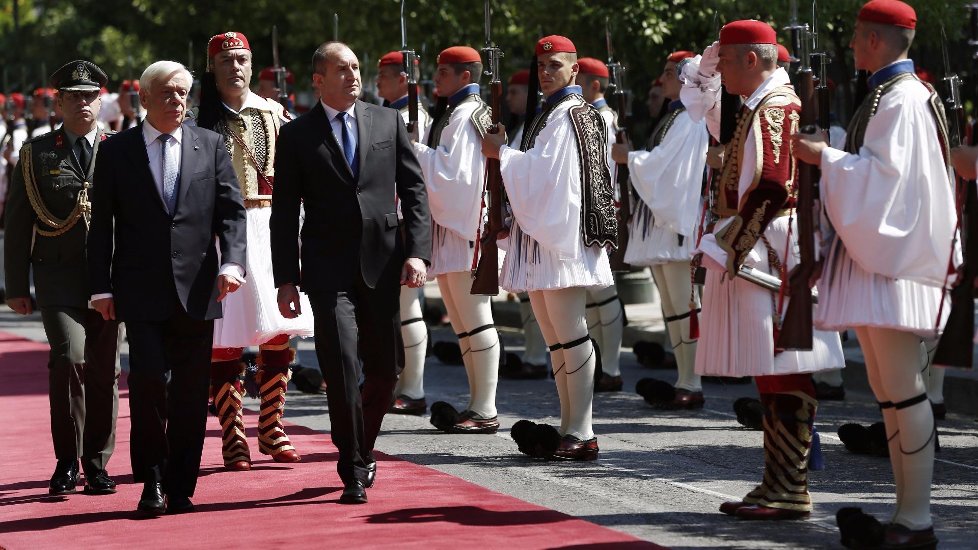 Прокопис Павлопулос и Румен Радев в Атина