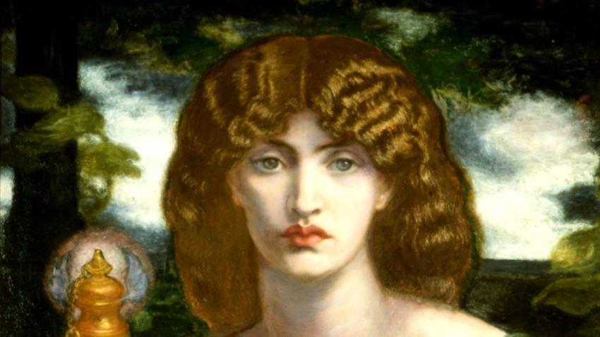 Мнемозина от Данте Габриел Росети (фрагмент)