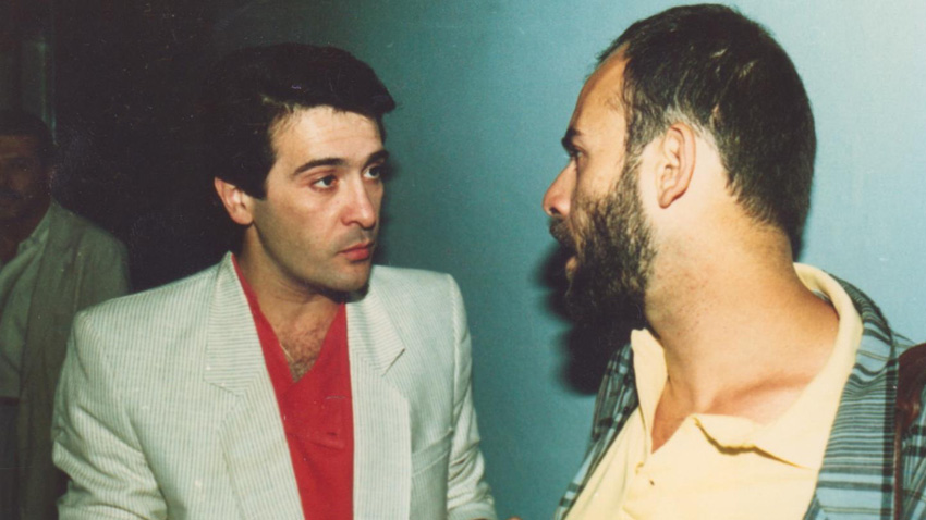 Орлин Горанов (вляво) и Кристиян Бояджиев, 1987 г. Снимка: личен архив на Кристиян Бояджиев