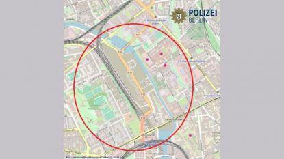 Полицията разпространи в Туитър карта на зоната за евакуация около жп гарата в Берлин.
