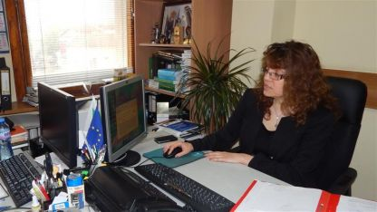Председателят на АС- Видин съдия Нели Дончева показа как работи системата за случайно разпределение на делата.