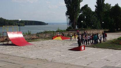 Скейт площадката в Крайдунавския парк при откриването през 2013 г.