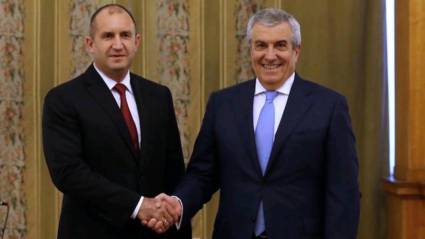 Президент Румен Радев и председатель Сената Калин Попеску-Тэричану