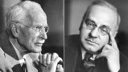 Карл Густав Юнг (вляво) и Алфред Адлер