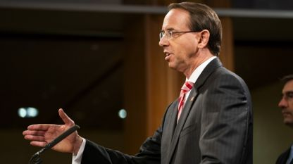 Заместник-главният прокурор на САЩ Род Розенстайн