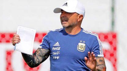 Сампаоли води тренировката на Аржентина вчера