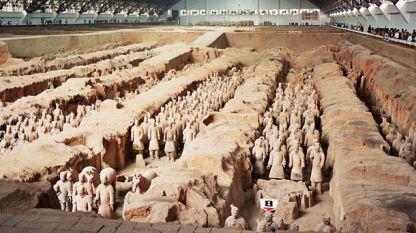 Теракотената армия е от над 6000 скулторни фигури в цял ръст