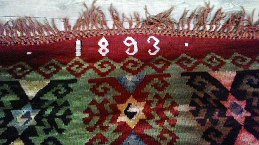 Най-старият килим, изтъкан през 1893 г.