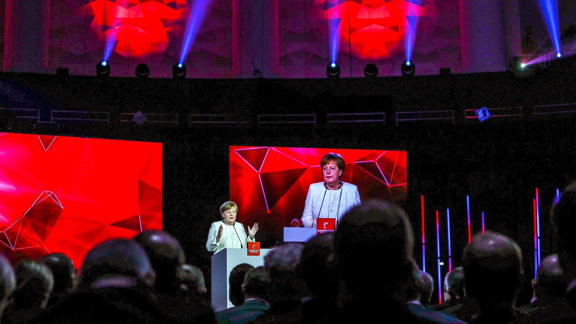 Германският канцлер Ангела Меркел и президентът на Мексико Енрике Пеня