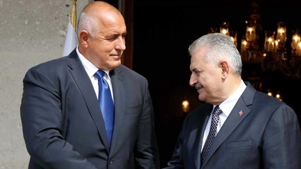 Kryeministrat Borisov (majtas) dhe Binali Jëlldërëm