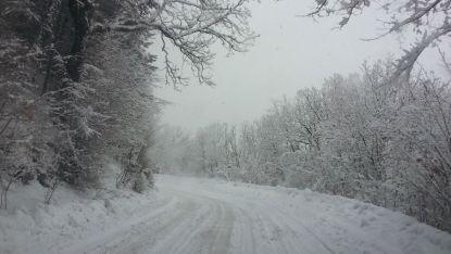 зима, пътища, сняг
