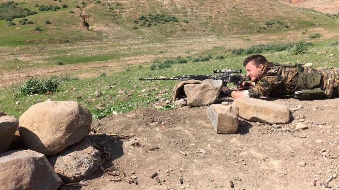 По време на военна тренировка