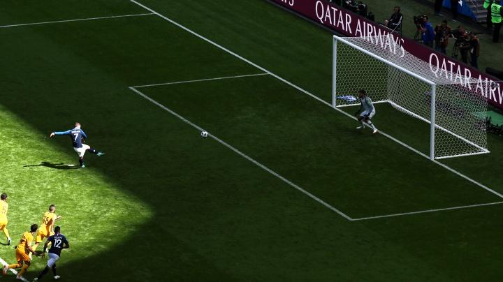 Гризман бележи първия гол в мача