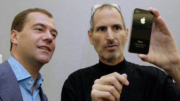 Стив Джобс и Дмитрий Медведев - САЩ, Силициевата долина, 23 юни 2010 година