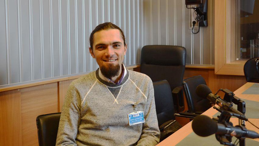 Иван Панкев в студиото на