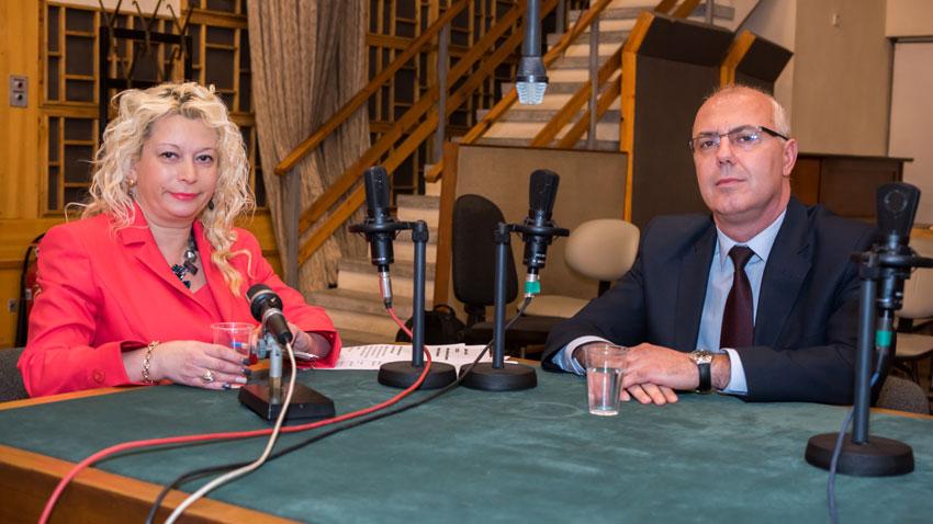 Министър Веселин Вучков и Анелия Торошанова в студиото на