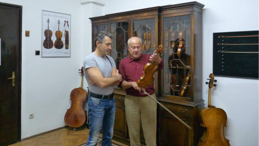 С выдающимся болгарским скрипачом проф. Минчо Минчевым
