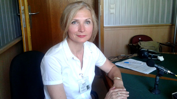 Валентина Пенева в студиото на Радио София