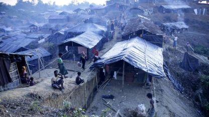 Бежански лагер с рохинги в Бангладеш