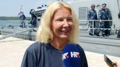 Спасената туристка дава интервю пред хърватската държавна телевизия.
