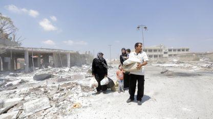 Правителствените сили са използвали и касетъчни бомби при офанзивата си в Северна Сирия