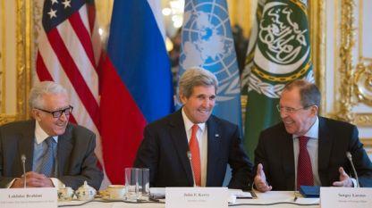 Кери, Лавров и Брахими в среща за Сирия