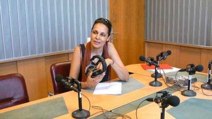 Ирина Вагалинска в студиото на предаването.