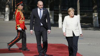 Германският канцлер Ангела Меркел и грузинският министър-председател Мамука Бахтадзе