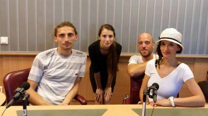 Борче Димитровски, Мартина Кръстева, Алеко Карловски и Яна Вачкова (отляво надясно)