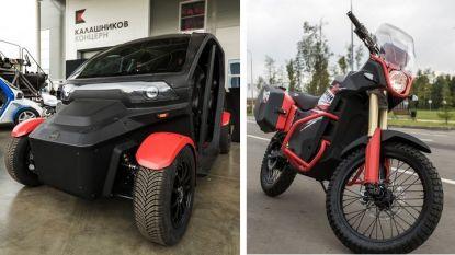 """Представените електромобил и електромотоциклет от """"Калашников""""."""