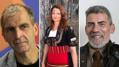 Проф. Ивайло Дичев, Нина Алиоски и проф. Георг Краев (отляво надясно)