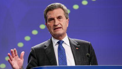 Еврокомисарят за бюджета Гюнтер Йотингер
