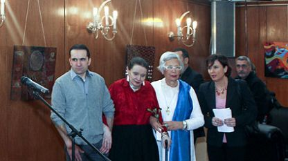 Milena Joiç dhe An djo Kolber-Hristoforov në çeljen e ekspozitës