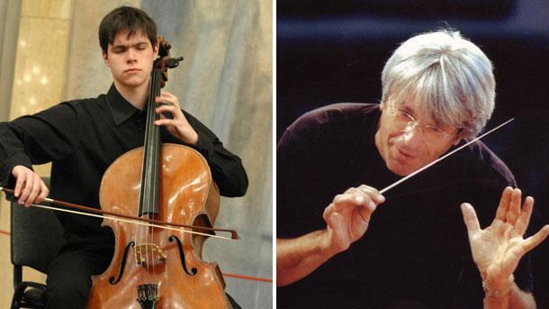 \r\nНа снимката: виолончелистът Атанас Кръстев и диригентът Жак Мерсие (отляво надясно)