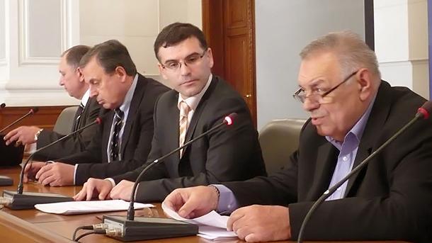 Jelyazko Hristov, Simeon Dyankov, Bojidar Danev and Lukan Lukanov (from right to left)