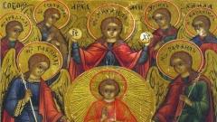 Jesus Christus und die sieben Erzengel