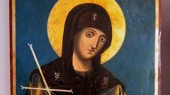 Ikone der Heiligen Petka (Detail)