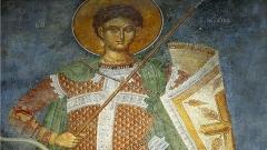 Ikone des Hl. Demetrius (Detail).