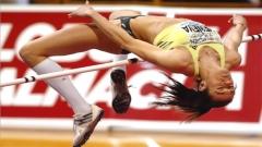 Wenelina Wenewagewann die Goldmedaille im Hochsprung beim Balkanmeeting in Istanbul.